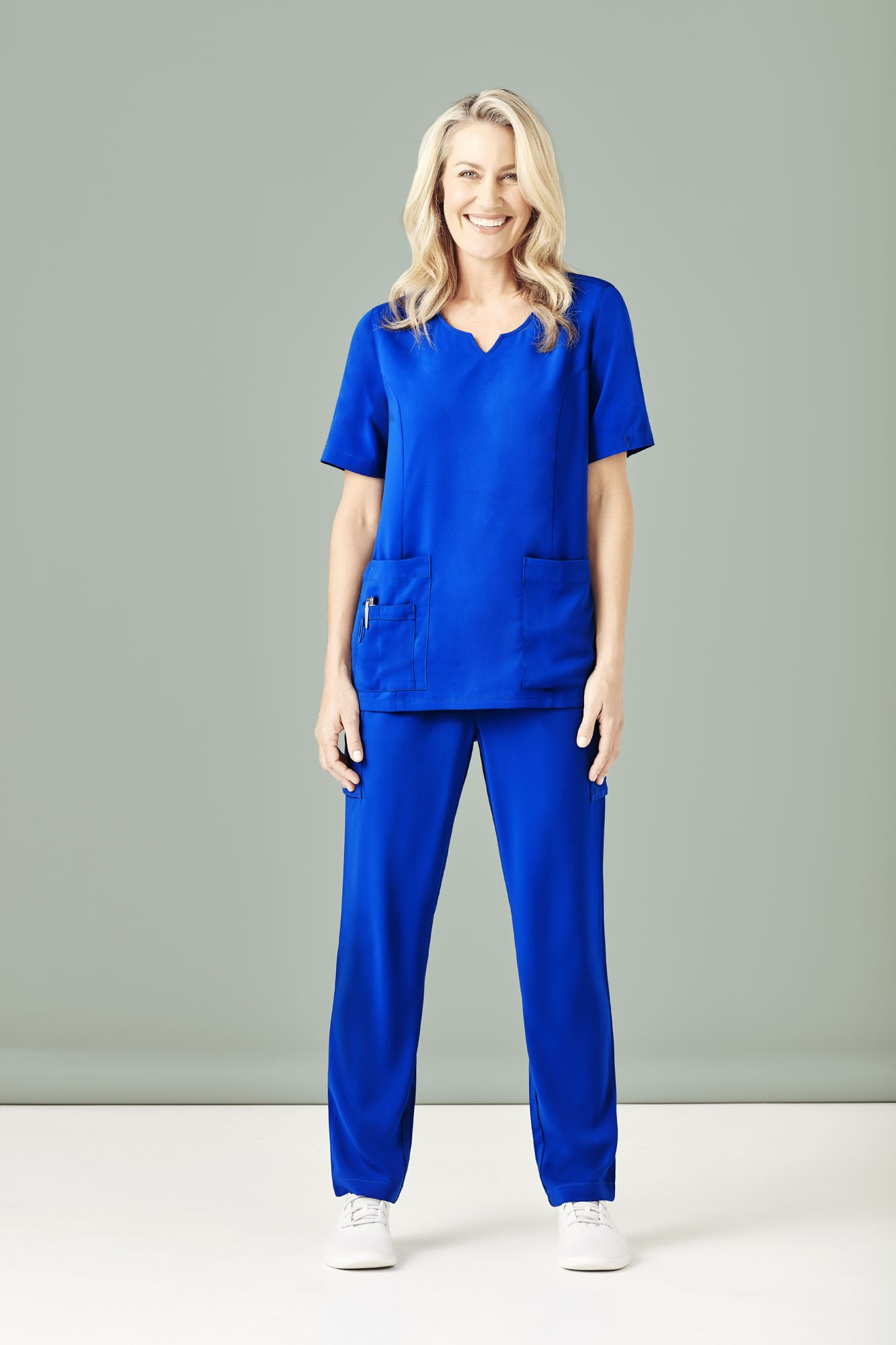 Womens Round Neck Scrub Top