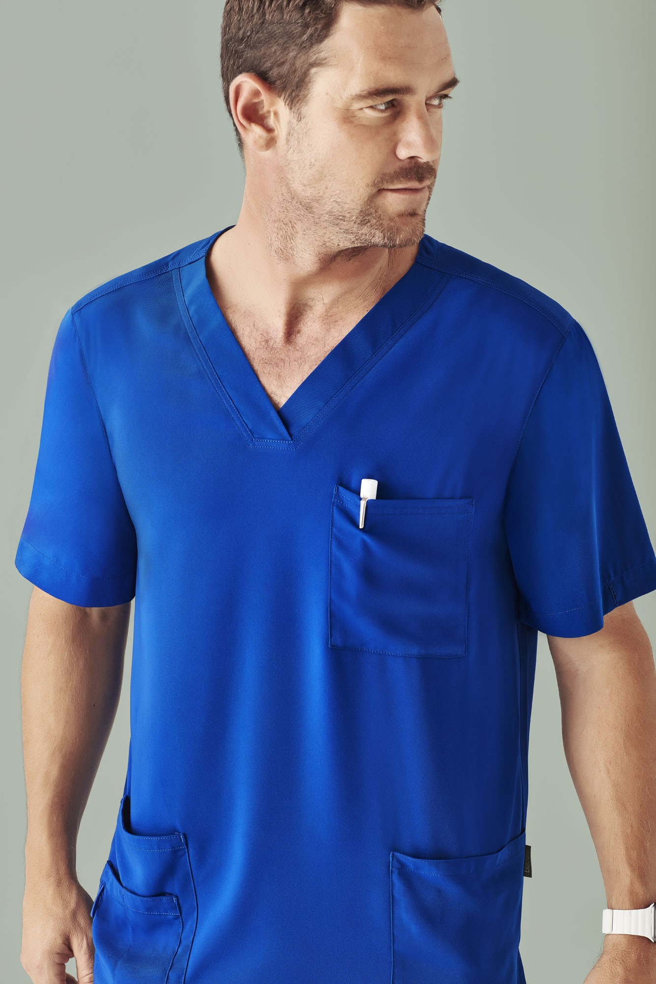 Mens V Neck Scrub Top
