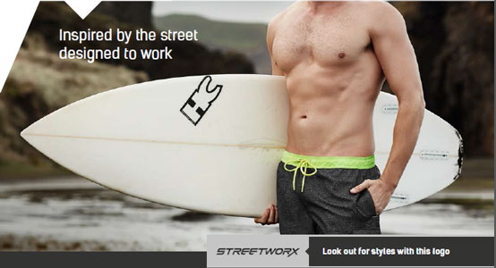 MENS STREETWORX STRETCH WORK BOARD SHORT