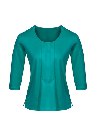 Abby Ladies 3/4 Sleeve Knit Top