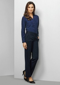 Ladies-Mid Rise Adjustable Waist Pant