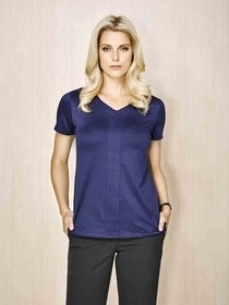Mae Ladies Short Sleeve Knit Top