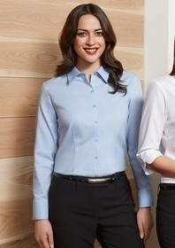 Luxe Long Sleeve Shirt - Ladies (100% Premium Cotton)