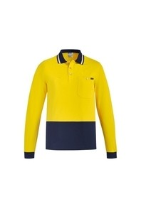 Mens Hi Vis Cotton L/S Polo