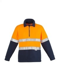 Mens Hi Vis Fleece Jumper - Hoop Taped