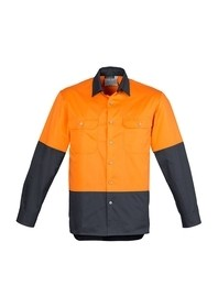 Mens Hi Vis Spliced Industrial Shirt