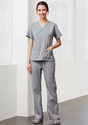 Crossover Top Scrubs - Ladies