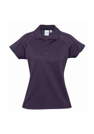 BIZ COOL Blade Polo for Ladies - Grape Colour